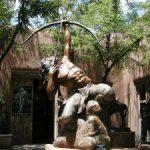 bronze statue in santa fe